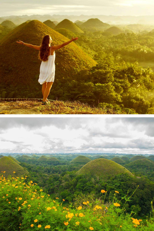 Самые красивые места на Филиппинах - Chocolate Hills of Bohol