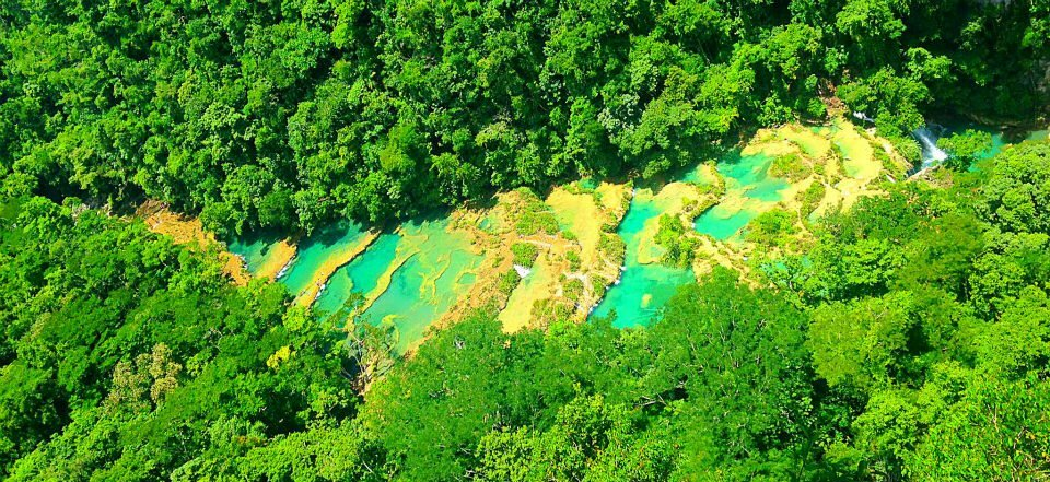 Semuc Champey Aerial View from Lookout El Mirador