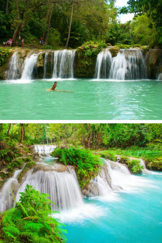 Cambugahay Falls on Siquijor Island-самые красивые места на Филиппинах фотографии