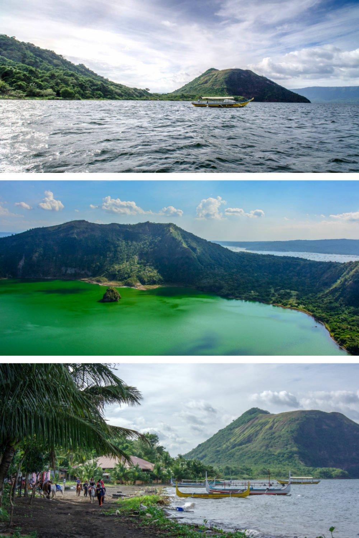 Самые красивые места на Филиппинах фотографии-Taal Lake и Taal Volcano Crater Lake