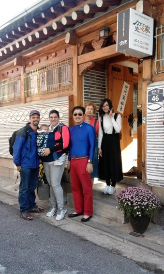 "Our hanok ""family"""