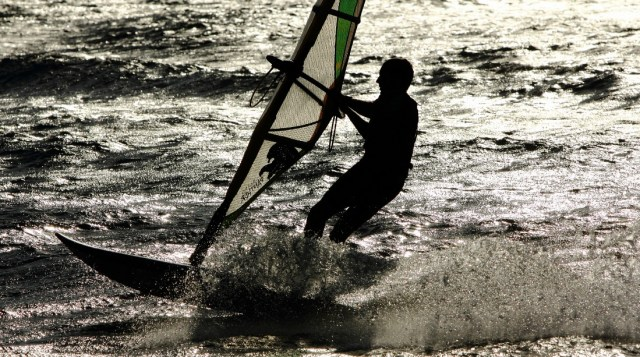 Windsurfing in the Outer Banks, North Carolina