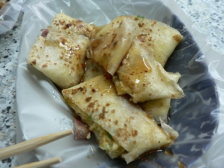 Taiwan bacon egg crepe