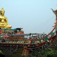 Golden Buddha on a Ship - Golden Triangle, Ban Sop Ruak