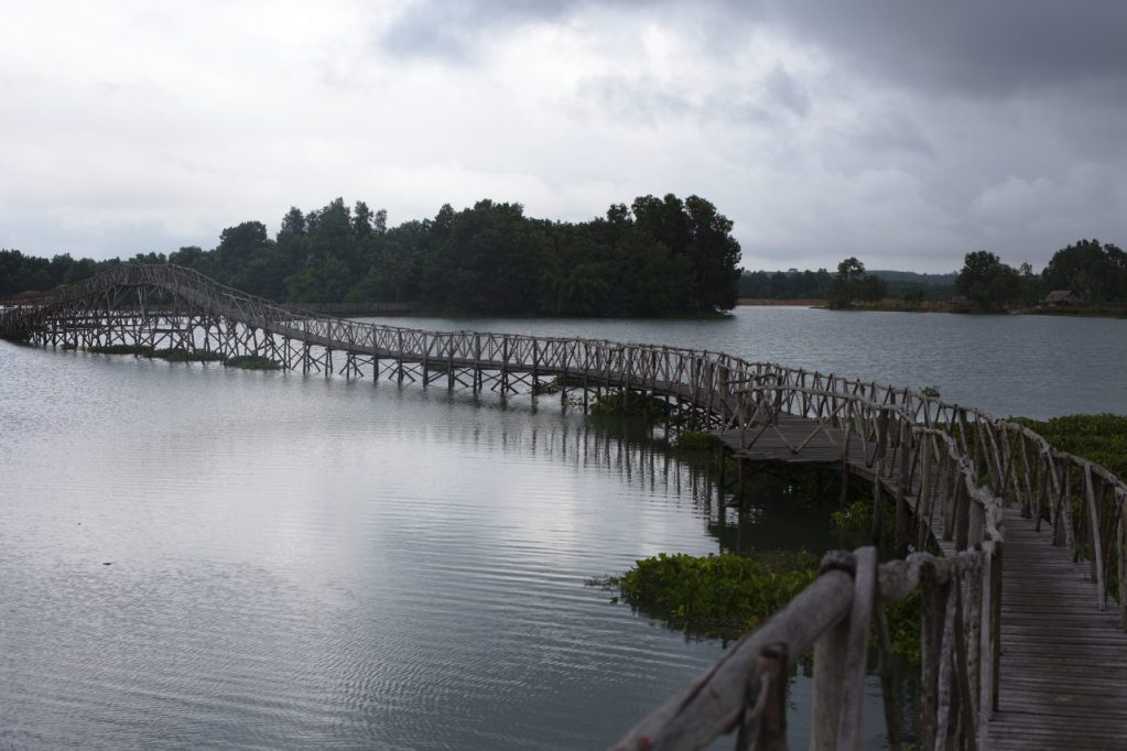 Timber bridge in Chumphon