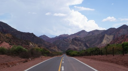 En route from Salta to Cafayate
