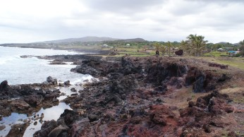 The coast of Hanga Roa