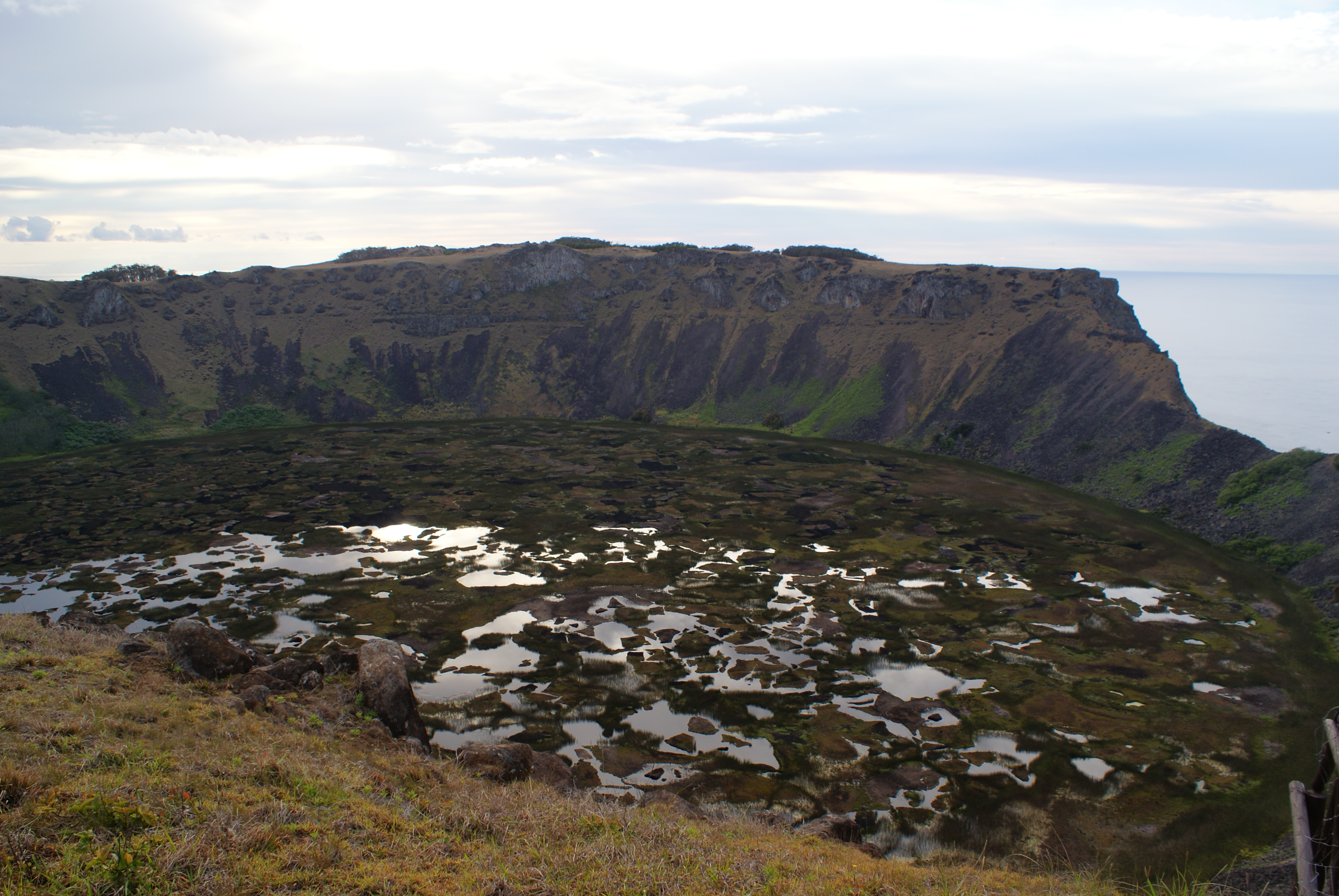 Volcanic crater of Rano Kau
