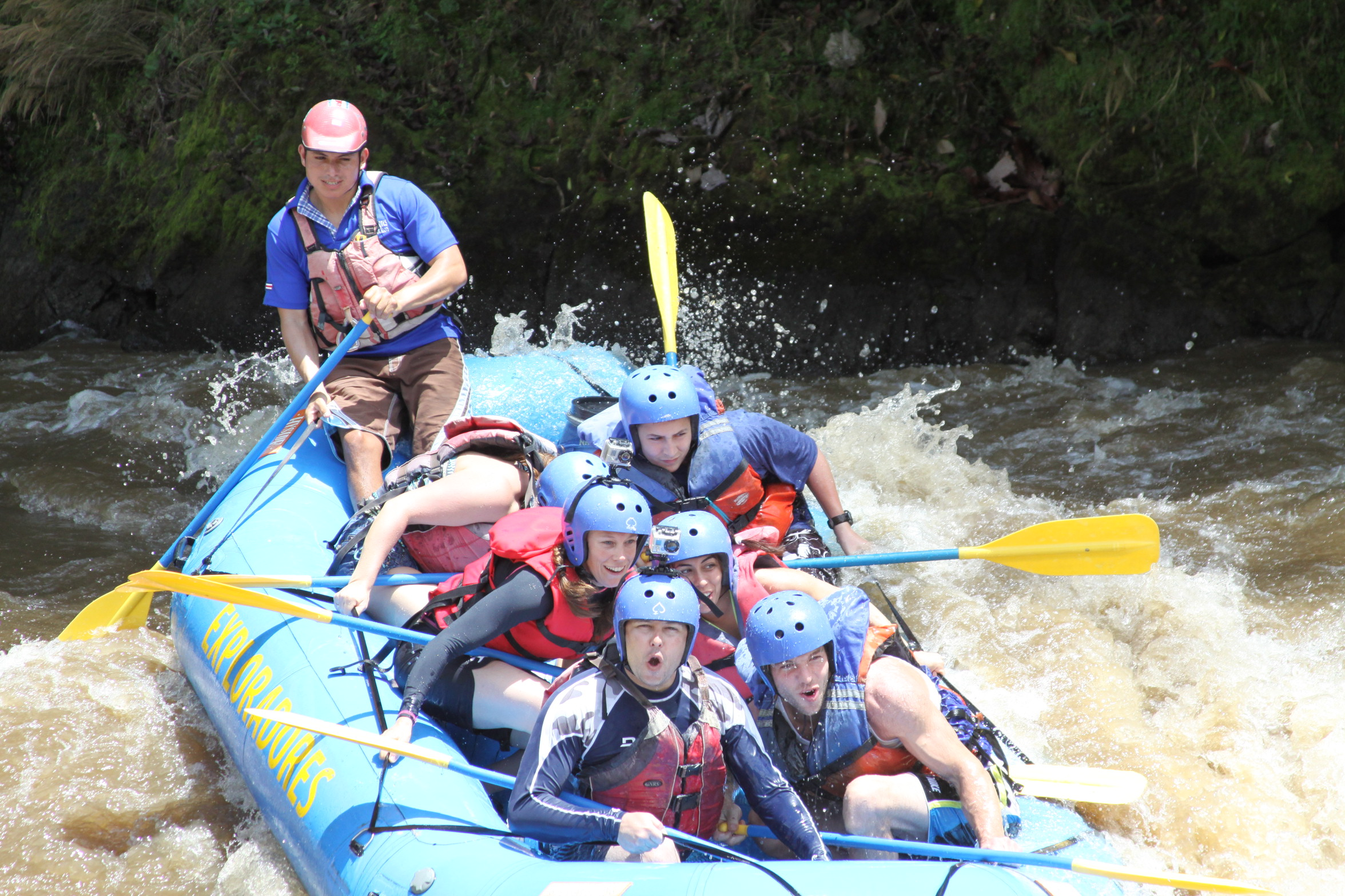 Rafting down the Pacuare River.
