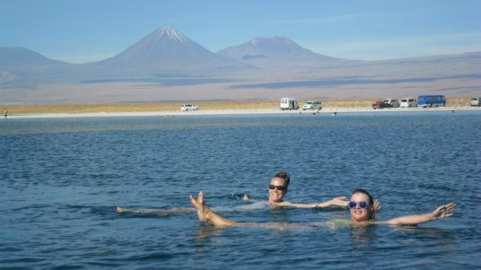 Floating in Laguna Cejar