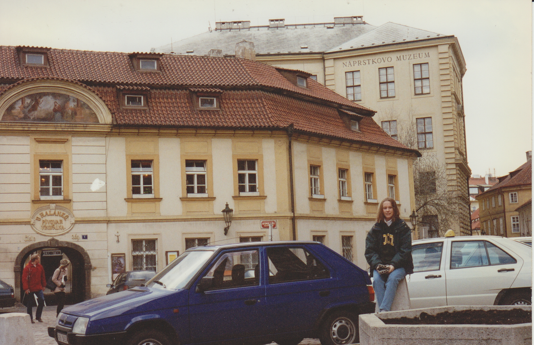 My first time in Prague at age 16, posing in front of the Naprstek Museum.