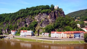 View opposite the Decin Castle