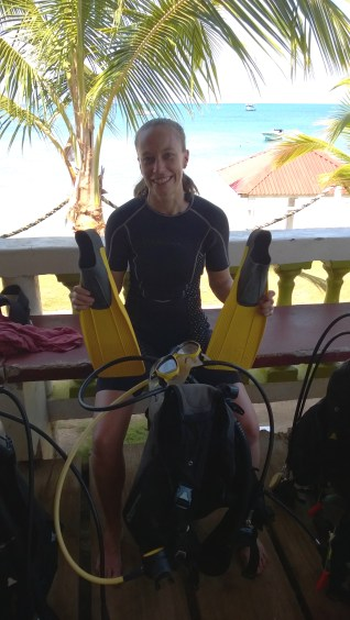 Getting ready to go diving!