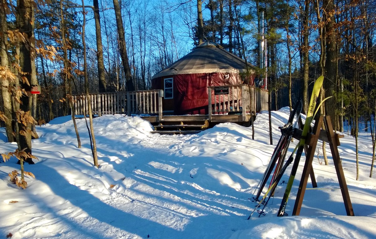 A Full Moon, A Yurt And A Night of Winter Glamping