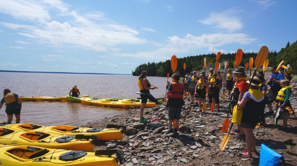 Gathering our gear and selecting our kayak.
