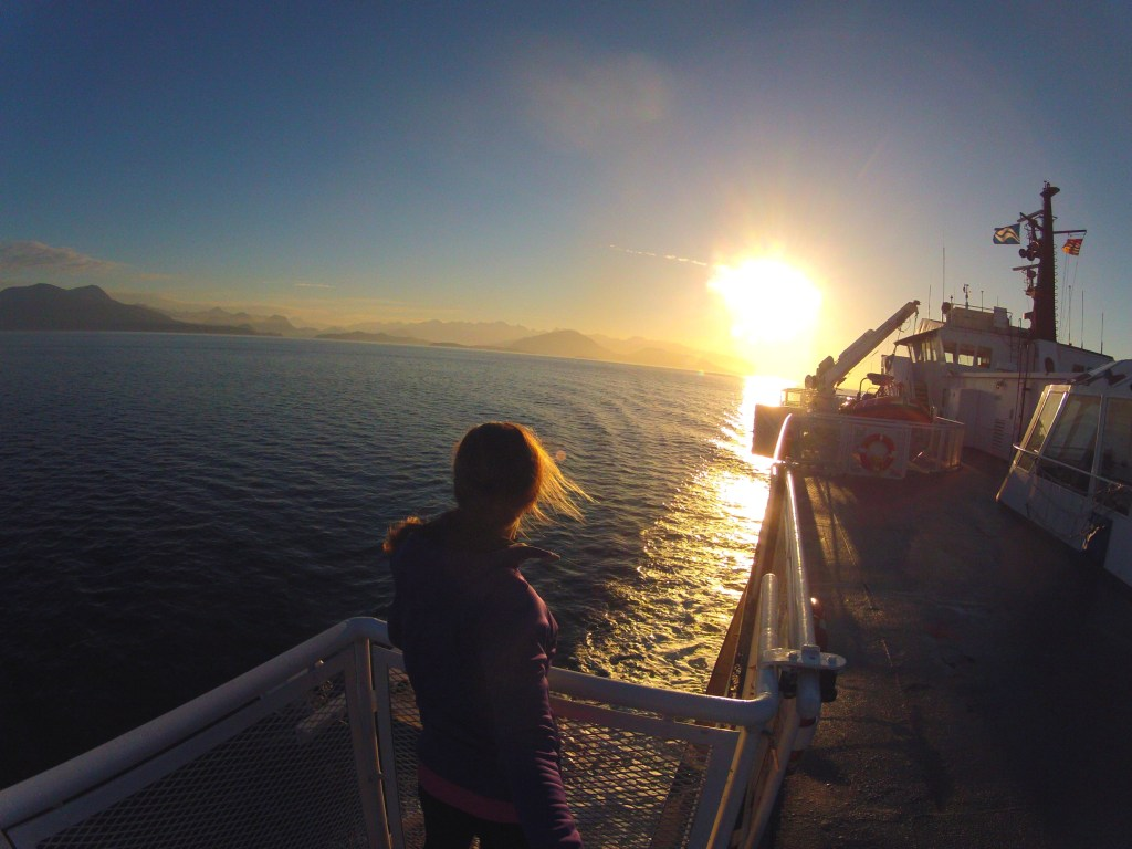 Taking the early morning ferry from Vancouver to Nanaimo on Vancouver Island.