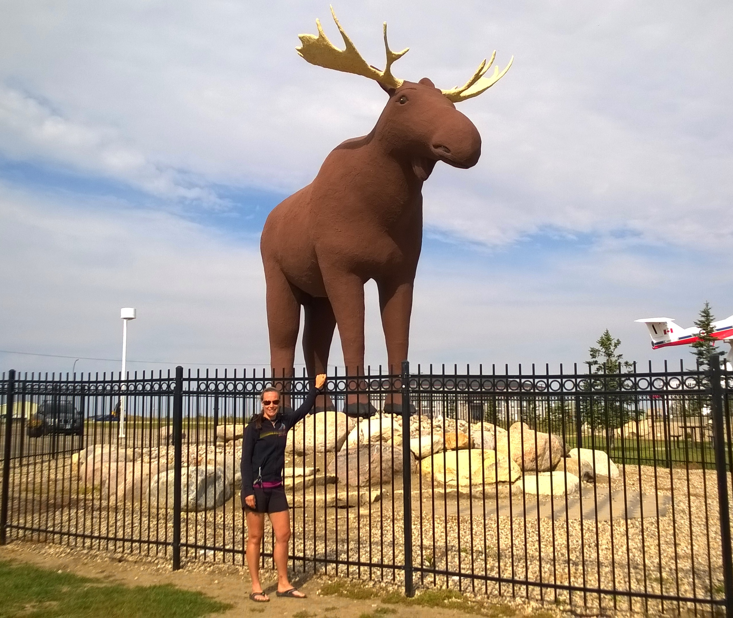 Mac the world's largest Moose, located in Moose Jaw,