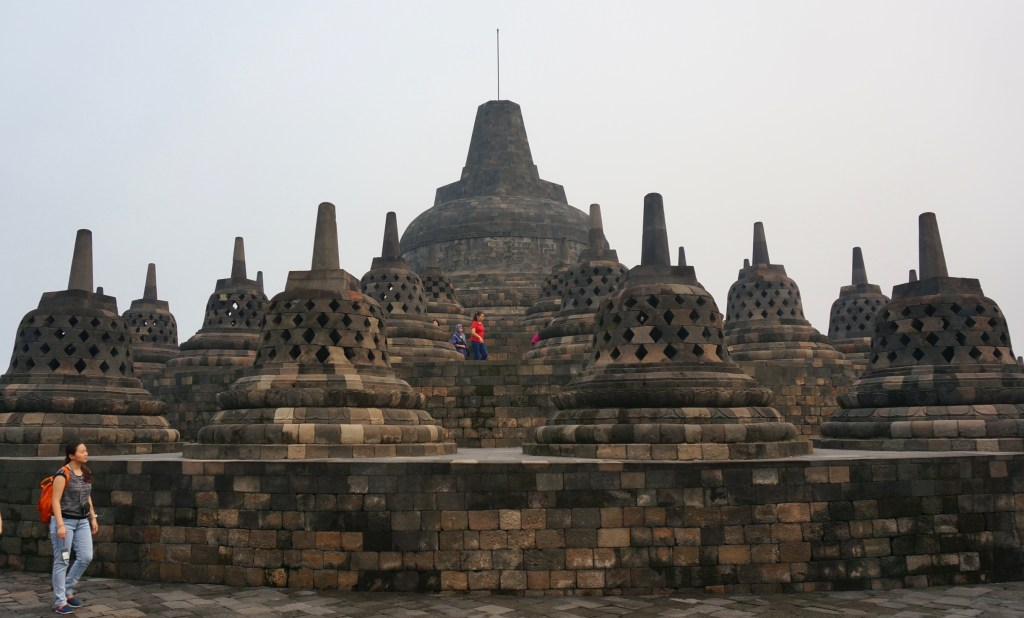 The top of Borobudur Temple