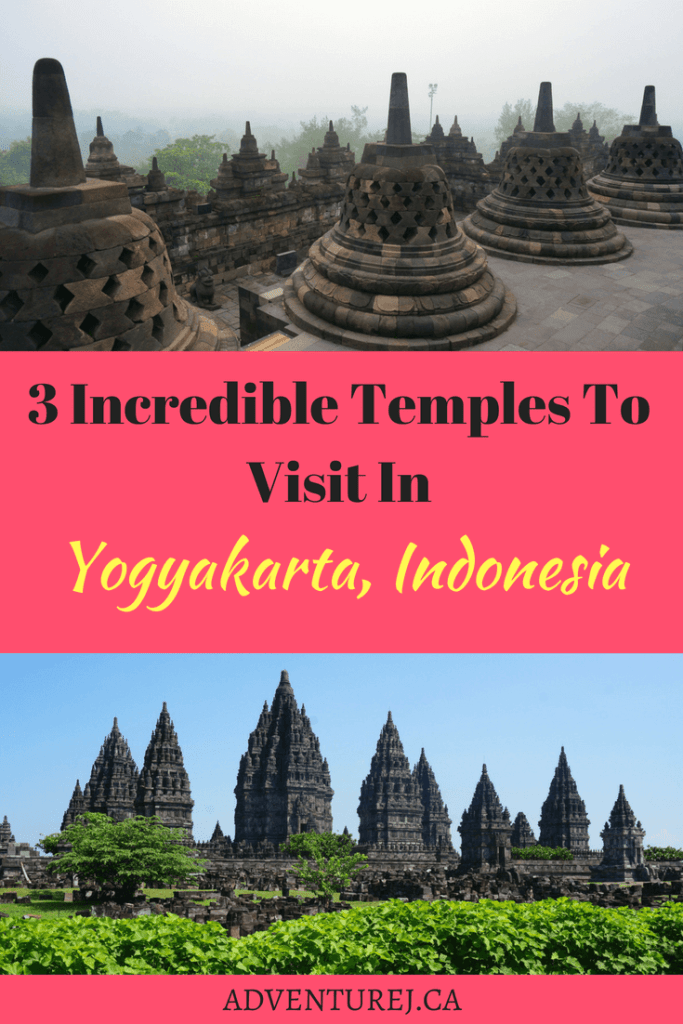 Like most of South East Asia, Indonesia is littered with temples. If you're visiting the city of Yogyakarta on the island of Java, be sure to check out these 3 temples! #temple #Indonesia #Yogyakarta #travel #explore #southeastasia #religion #borobudur #Prambanan