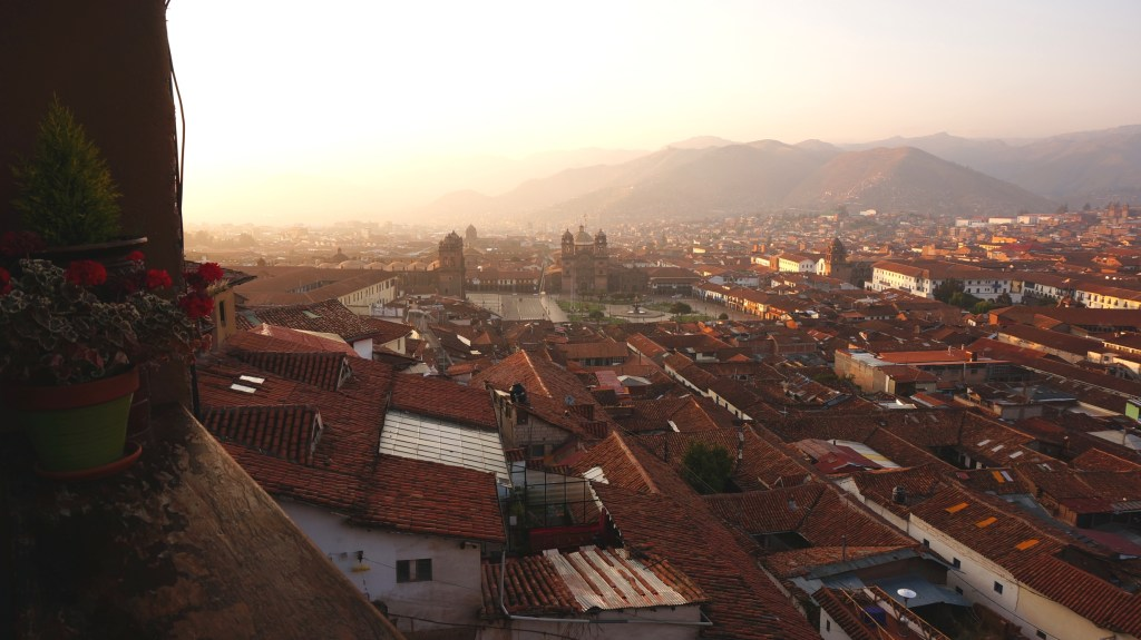 Sunrise over Cusco