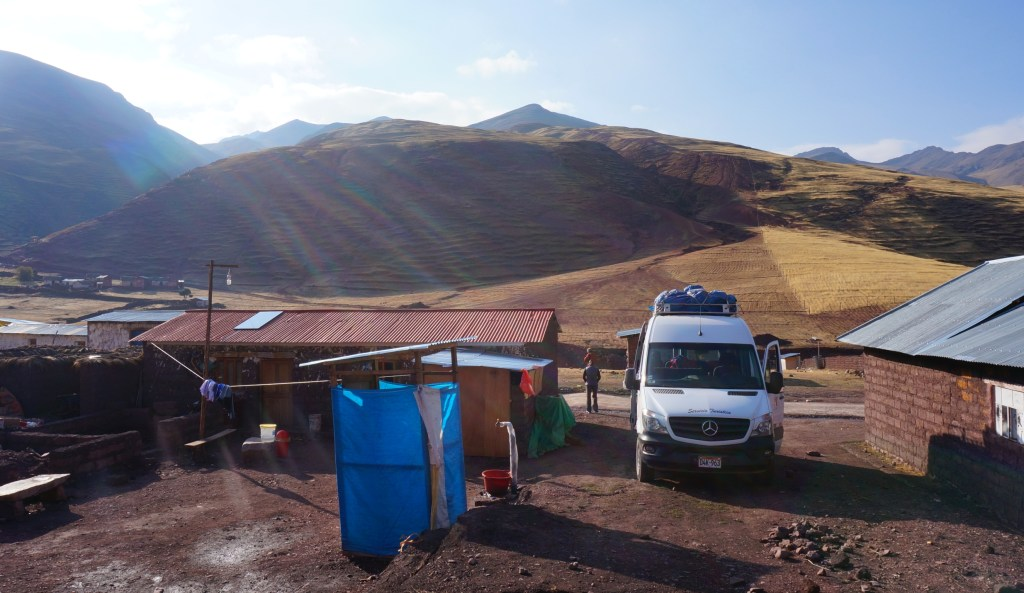 Breakfast stop in this little village in the Andes.