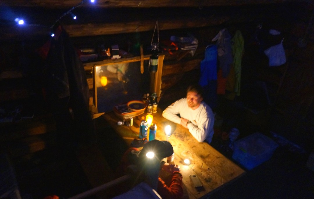 Evenings in the hut.