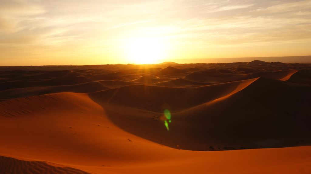 The beautiful Sahara Desert.