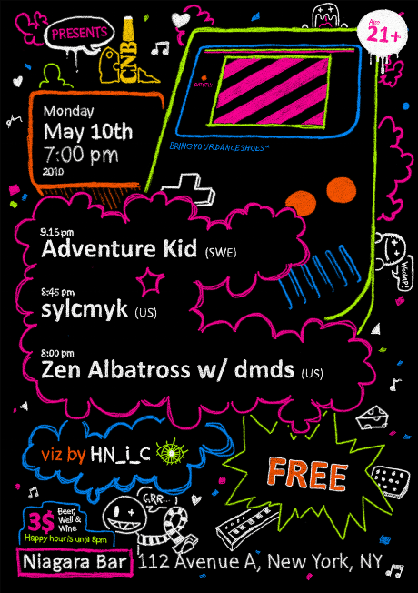Adventure Kid, sylcmyk, Zen Albatross w/dmds & viz by HN_i_C
