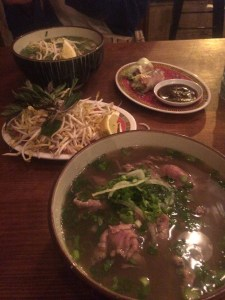 Beef Pho, Chicken Pho and Peking Duck Rice Paper Rolls at Hanoi Hannah Express