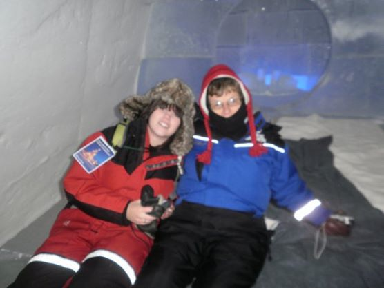 In an Ice Hotel in Lapland, Finland