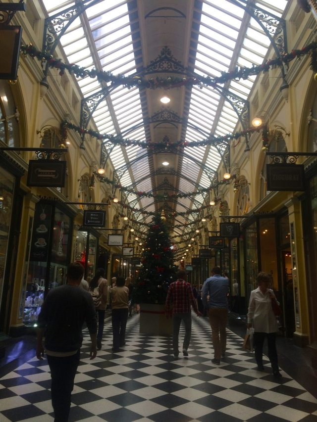 Block Arcade all decorated for Christmas