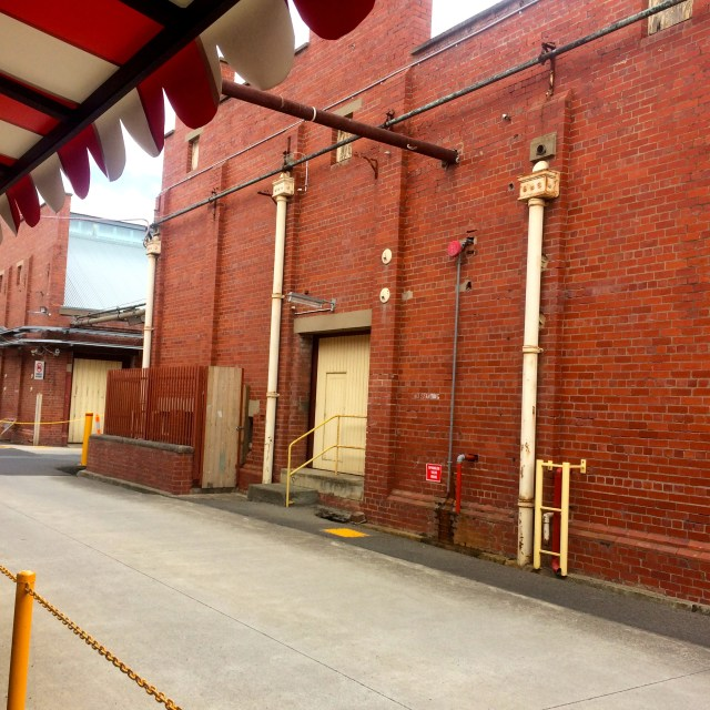 Part of the old heritage building that Little Creatures Brewery is housed in