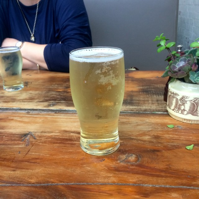 A pint of Cider at Little Creatures Brewery