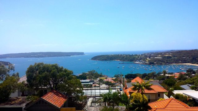 The view from our place in Mosman- booked with Air BnB