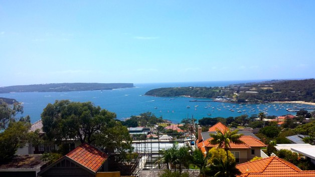 The view from our place in Mosman