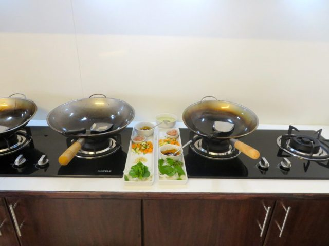 The wok station