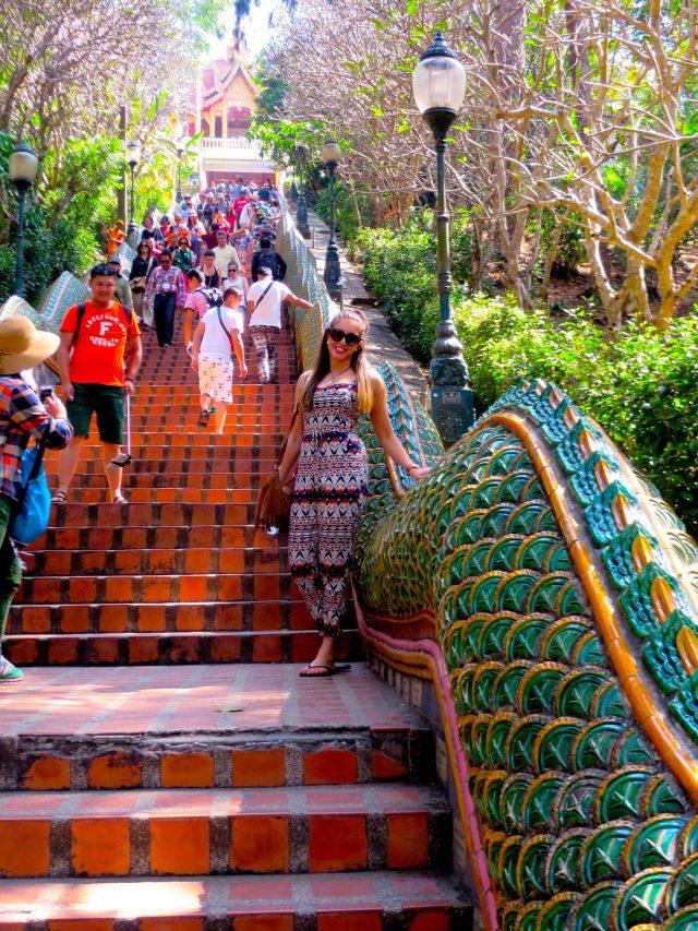 The staircase up to Doi Suthep