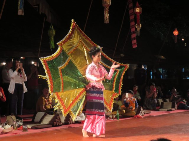 Dancer at our Khantoke dinner in Chiang Mai