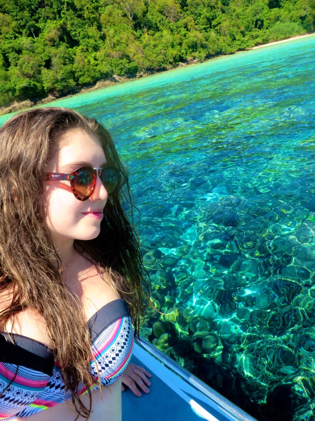 The water was so clear at Koh Rok