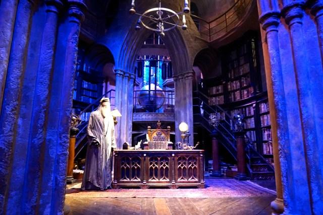 harry potter studios london dumbledore office