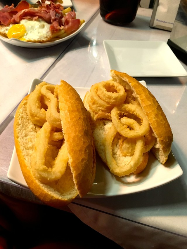 what to eat in spain calamari sandwich