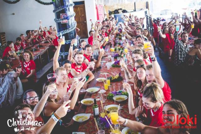 crazy christmas overseas at loki mancora hostel peru