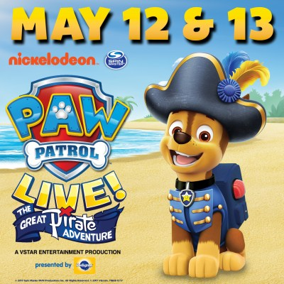 GIVEAWAY: PAW PATROL LIVE! The Great Pirate Adventure