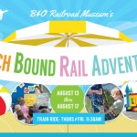 Chugging along at the Beach Bound Rail Adventures!
