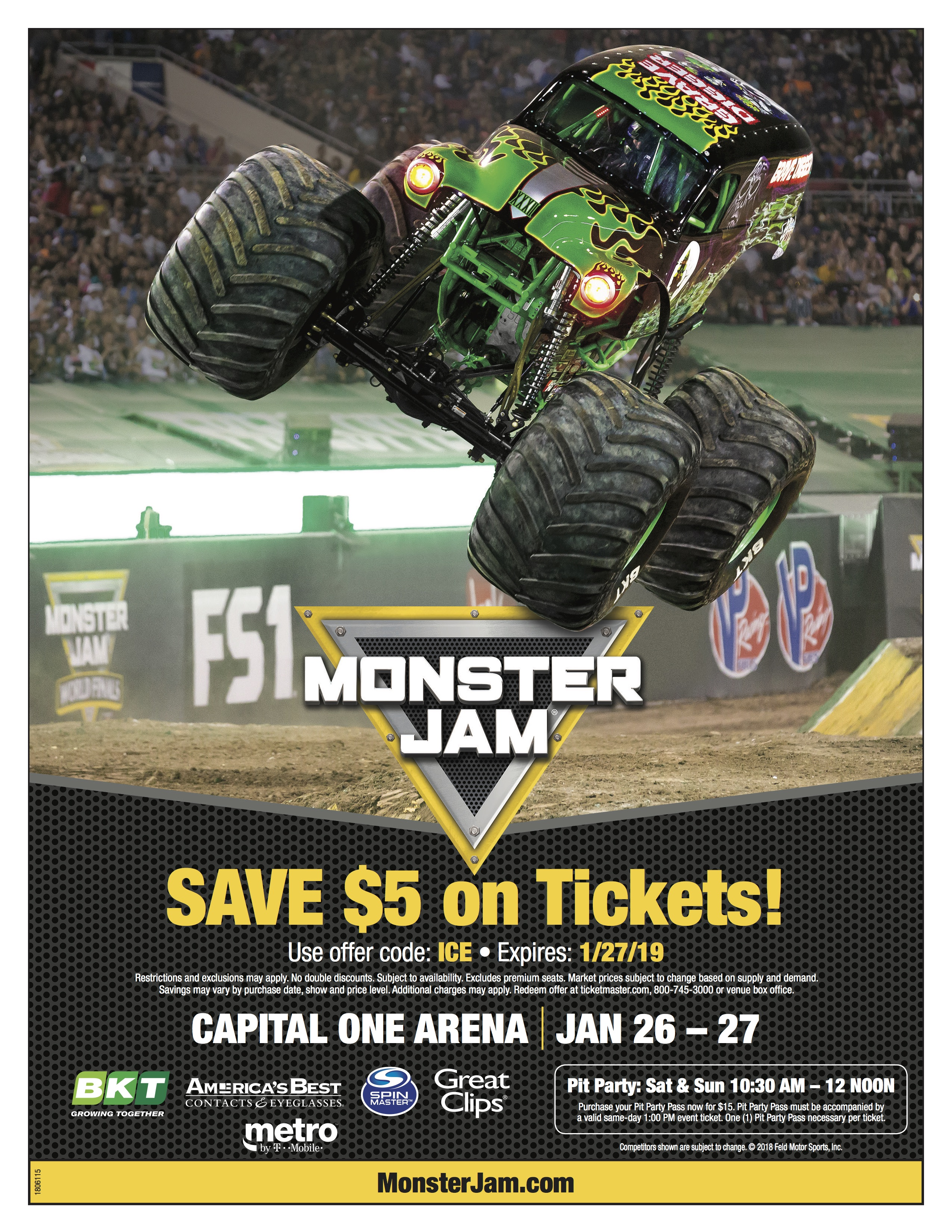 save $5 on tickets with code: ICE
