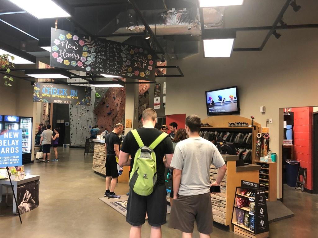 rock climbing center