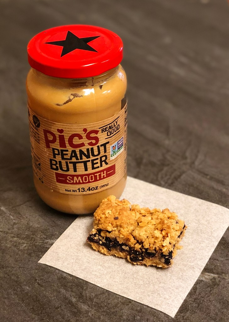 Peanut Butter and Jelly snack bars with Pic's peanut butter