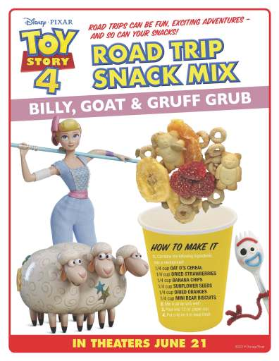 Road trip snack mix bill goat & gruff grub