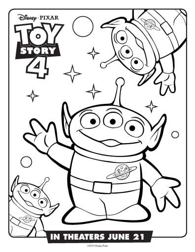 aliens coloring sheet