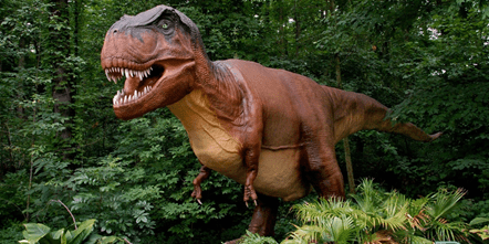 DinoRoars animatronic T-rex will be on view June 1 through Aug. 31, 2019 at Smithsonian's National Zoo.